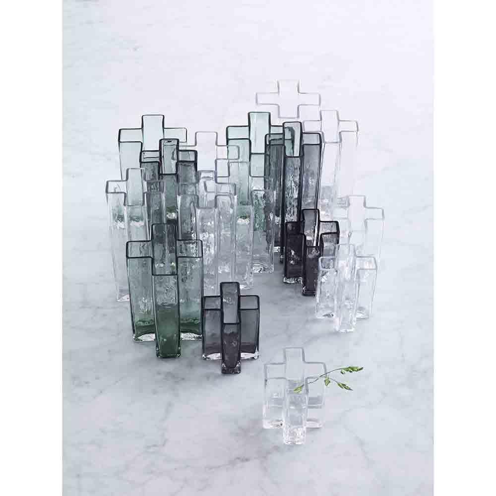 crosses bodil kjaer holmegaard modern contemporary danish designer glass flower vase home accessory