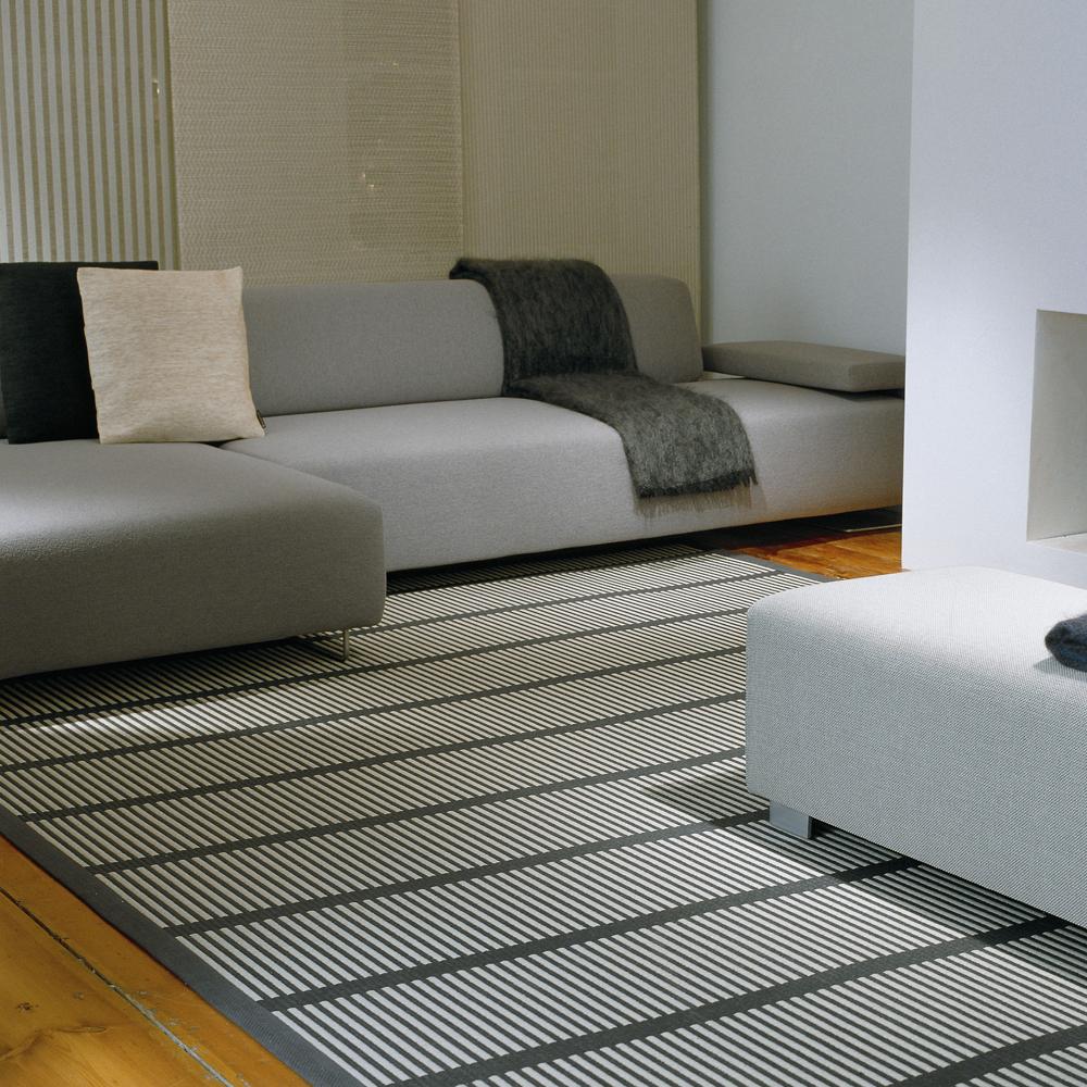 cut stripe woodnotes ritva puotila paper yarn carpet modern contemporary finnish designer rug carpet flooring