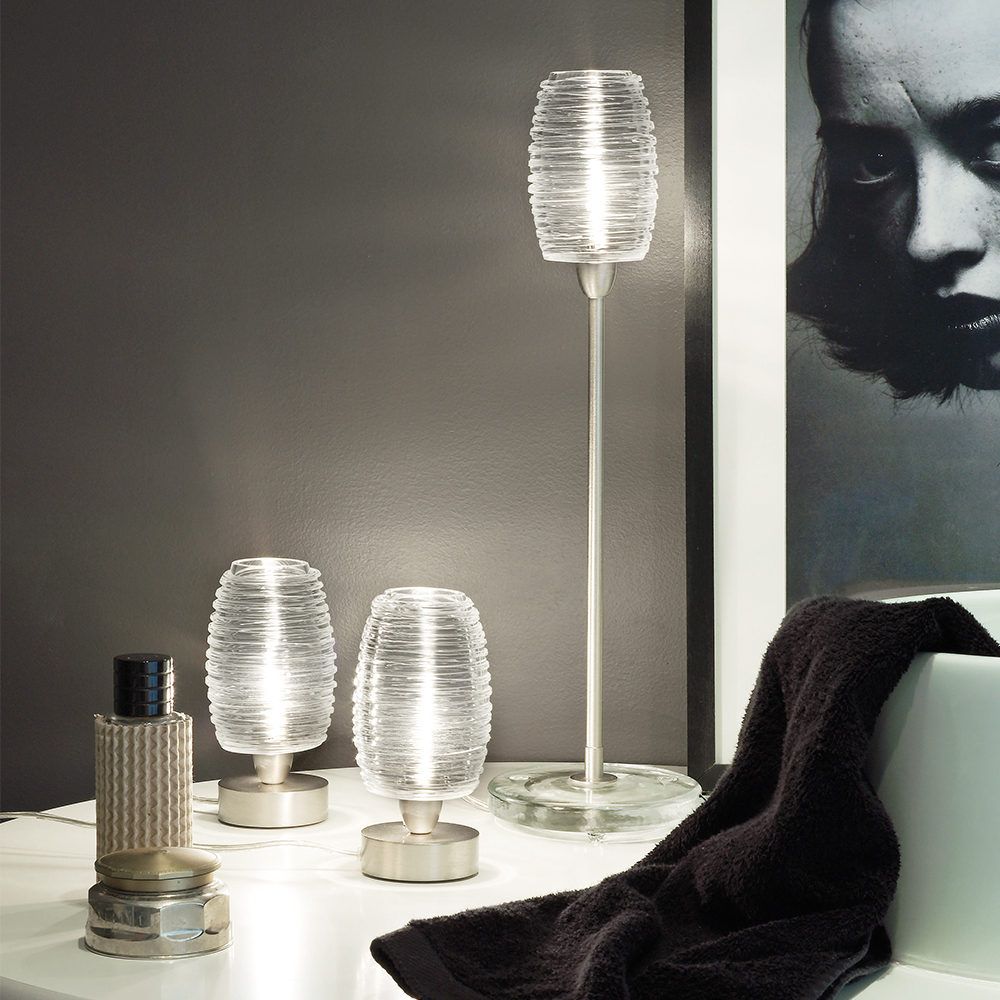 Damasco Table Light Paolo Crepax Vistosi italian designer glass table lamp