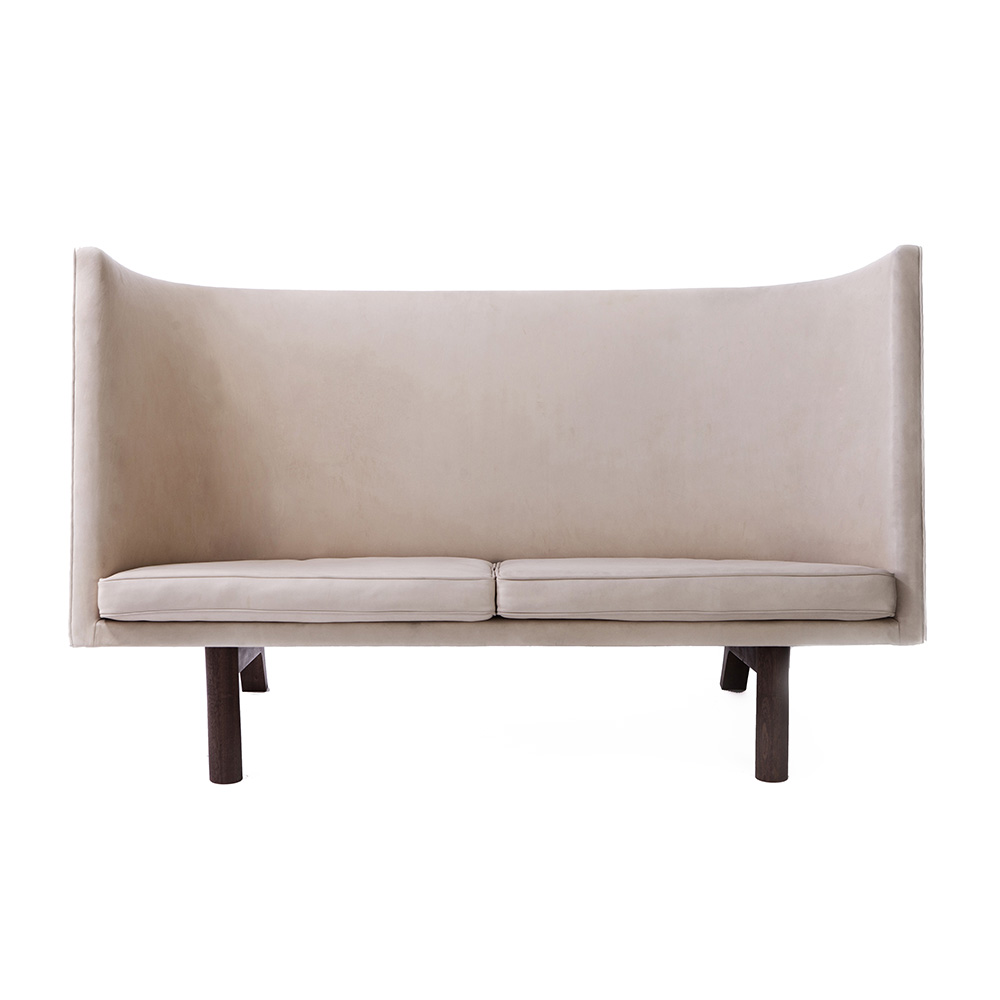 dan svarth sofa a petersen modern contemporary designer leather high back two seater danish sofa