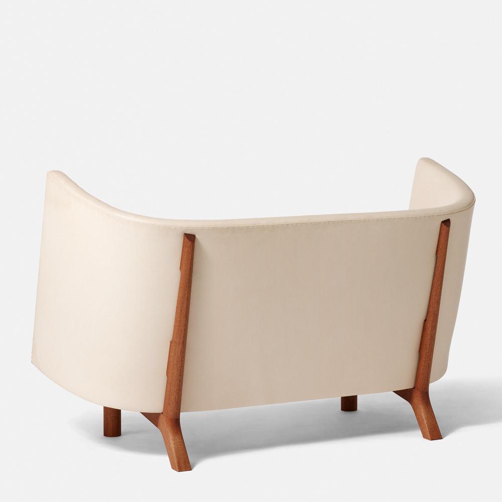 dan svarth rocking chair a petersen modern designer contemporary danish wood canvas rocking chair