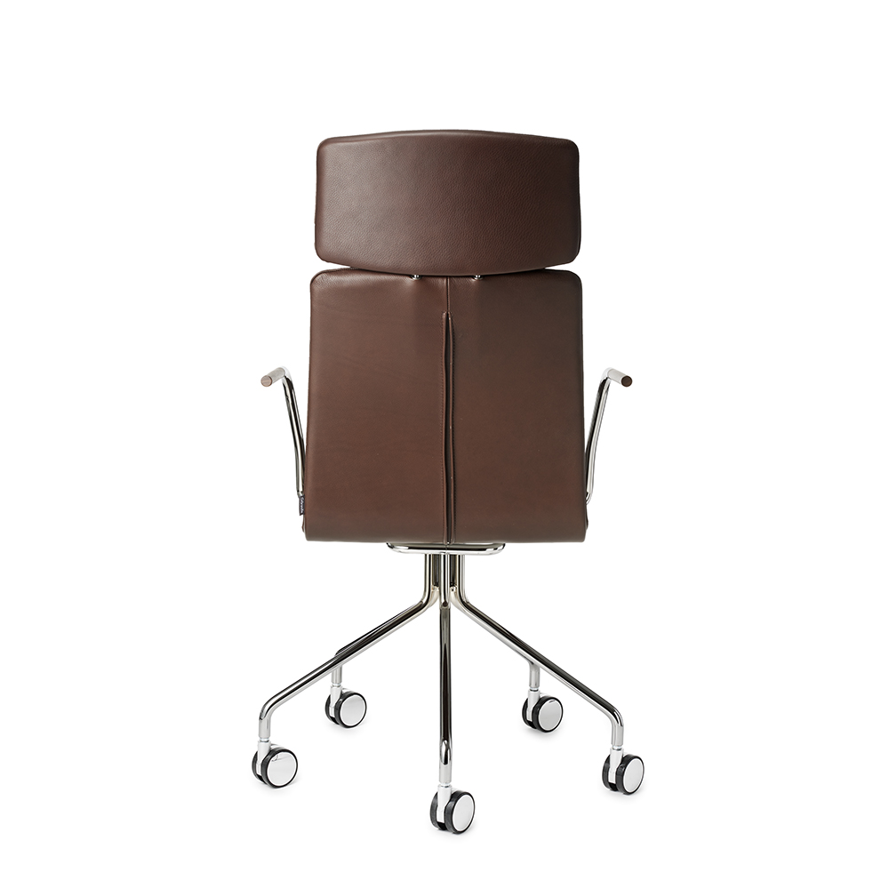 day high garsnas brown leather task chair suite ny pierre sindre