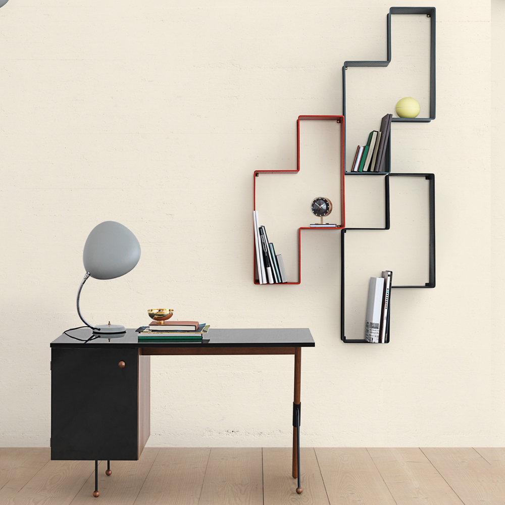 Dedal Shelf Mathieu Mategot Gubi geometric modern metal shelving
