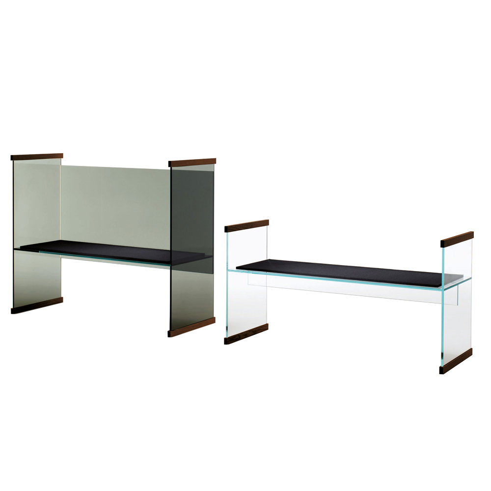Diapositive Bench Glas Italia Ronan and Erwan Bouroullec modern glass furniture