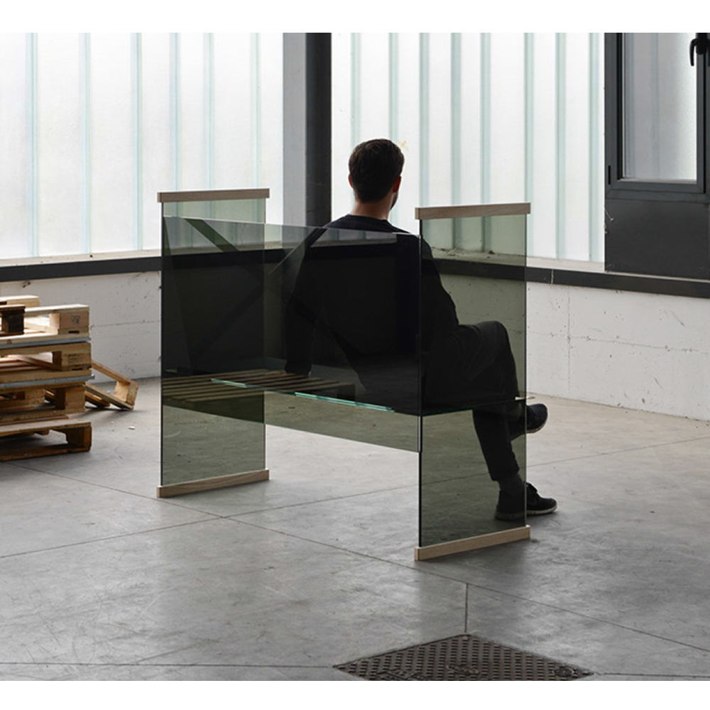 Diapositive Bench Glas Italia Ronan and Erwan Bouroullec modern glass furniture