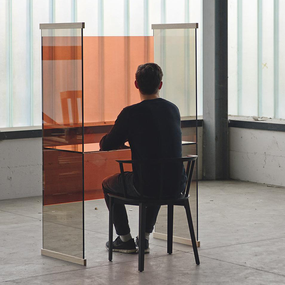 Diapositive Desk Glas Italia Ronan and Erwan Bouroullec modern glass furniture