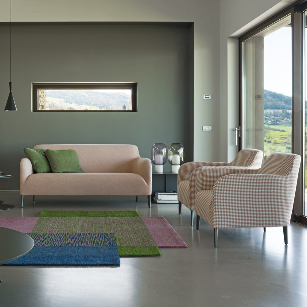 divanitas sofa lievore altherr molina verzelloni luxury italian upholstered lounge furniture suite ny pink lifestyle armchair