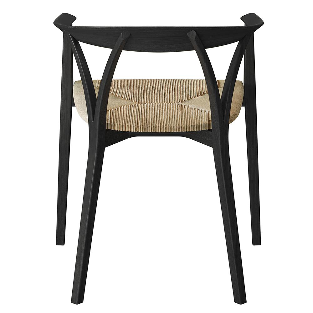 donzelletta chair piero lissoni depadova black modern upholstered wooden chair