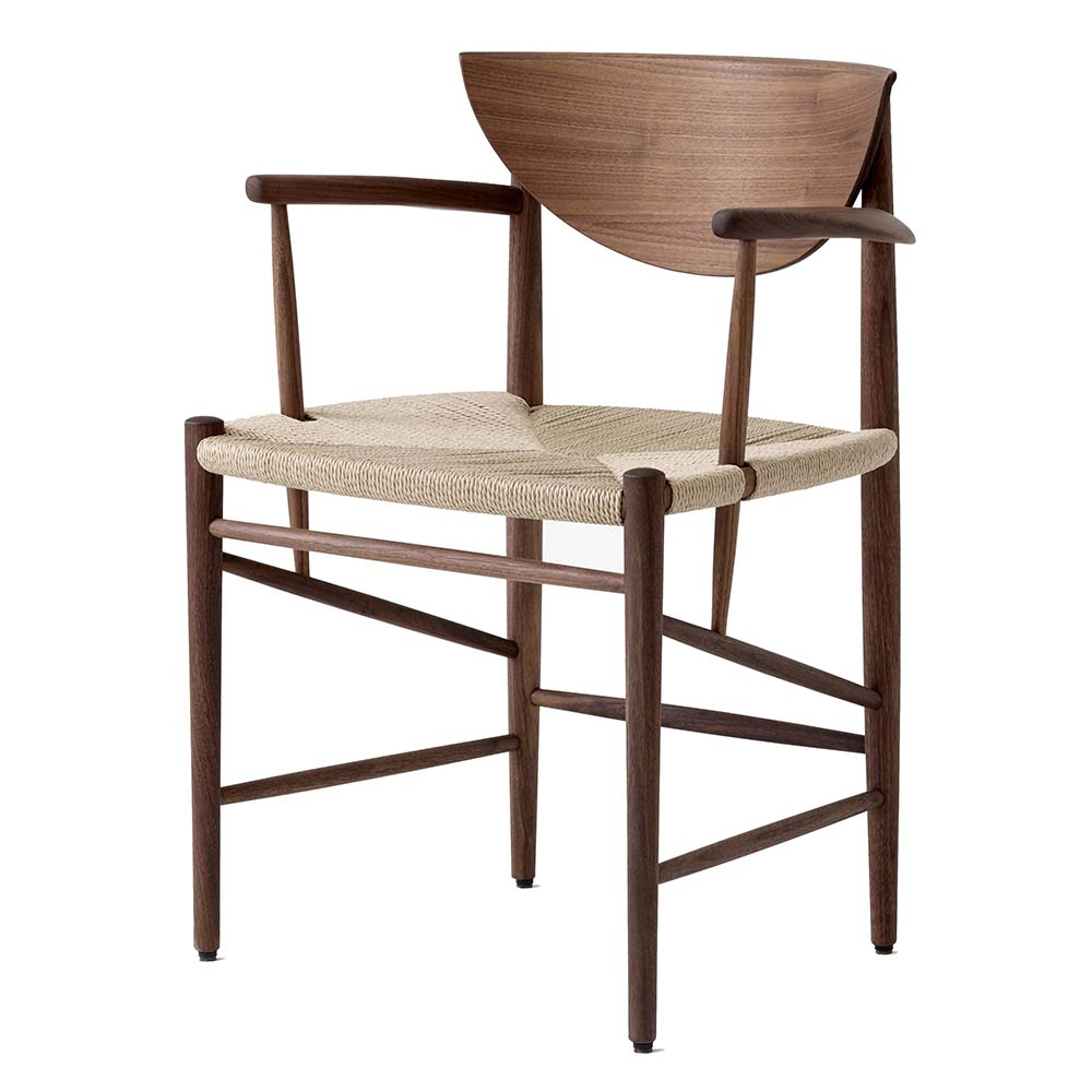 drawn hvidt molgaard andtradition contemporary midcentury modern danish designer wood paper cord armrests dining chair