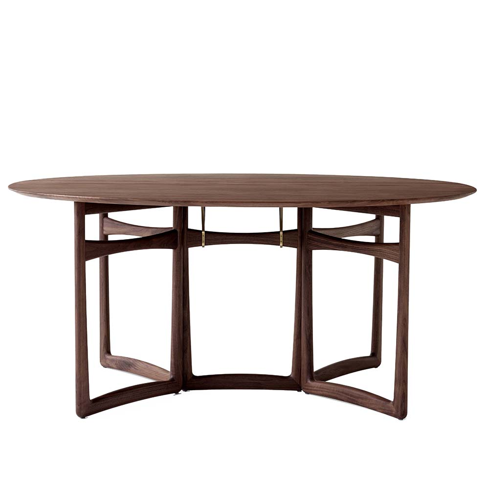 drop leaf hm6 hvidt molgaard andtradition midcentury modern contemporary danish designer solid wood wooden folding foldable dining table