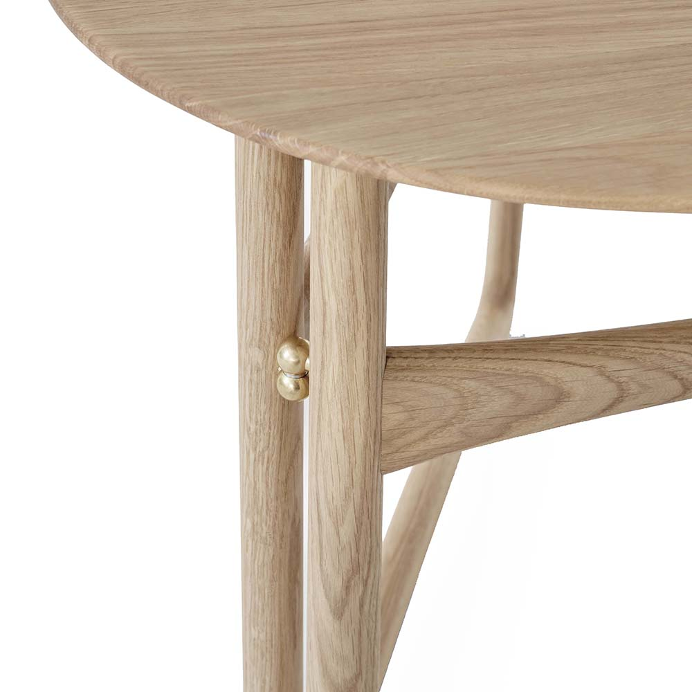 drop leaf hm5 hvidt molgaard andtradition midcentury modern contemporary danish designer folding foldable solid wood wooden end side lounge coffee table