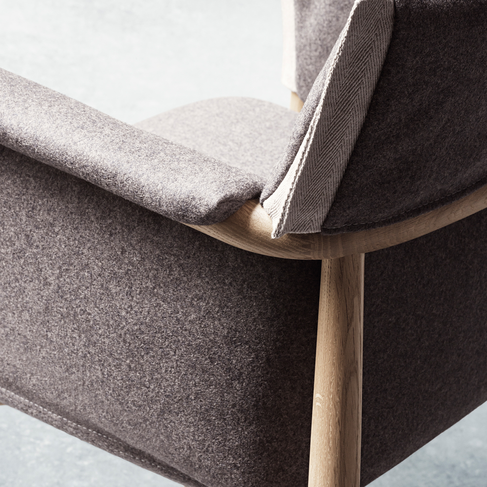 eoos e005 carl hansen and son suite ny oak legs upholstered detail