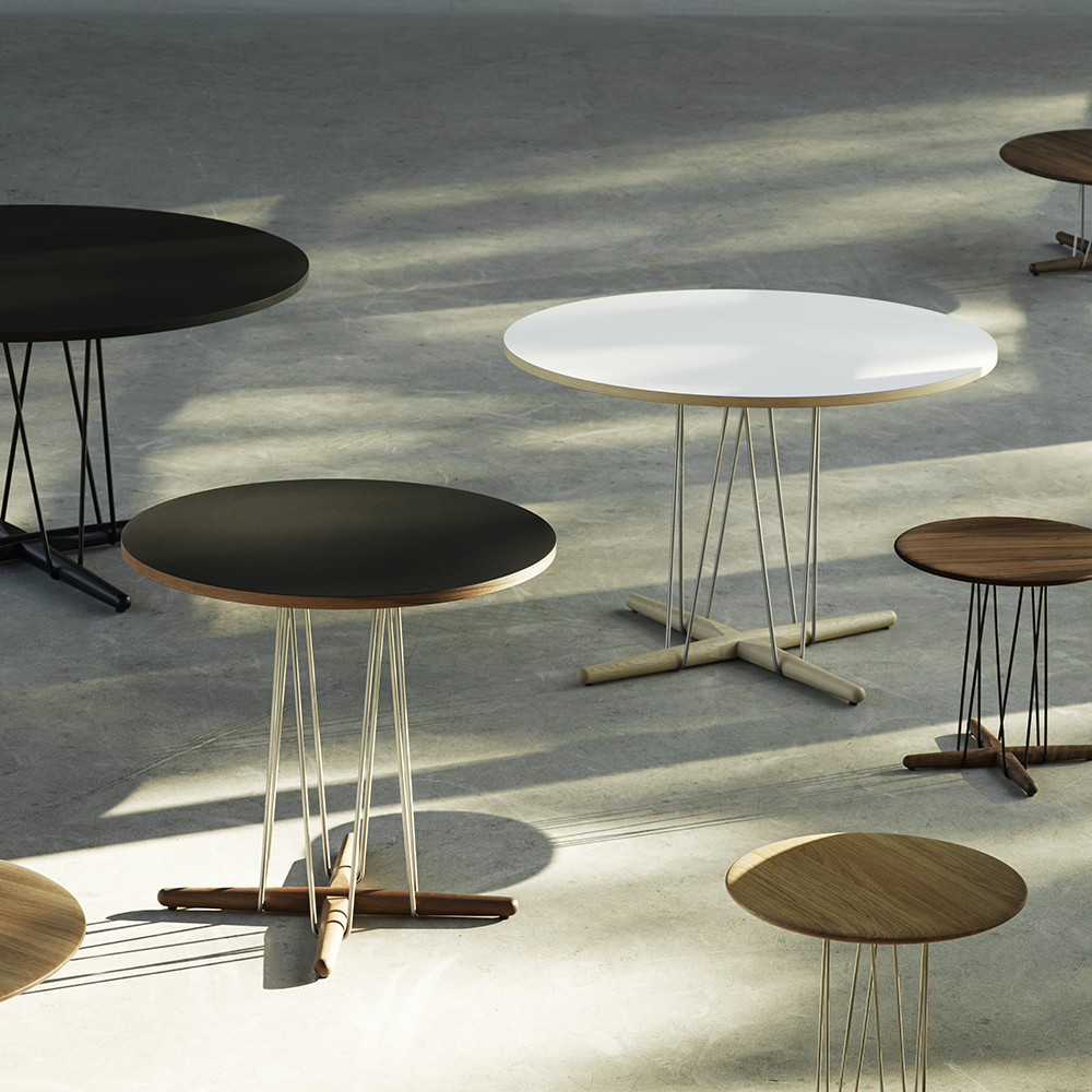 embrace table eoos carl hansen modern contemporary designer wood metal round circular dining table
