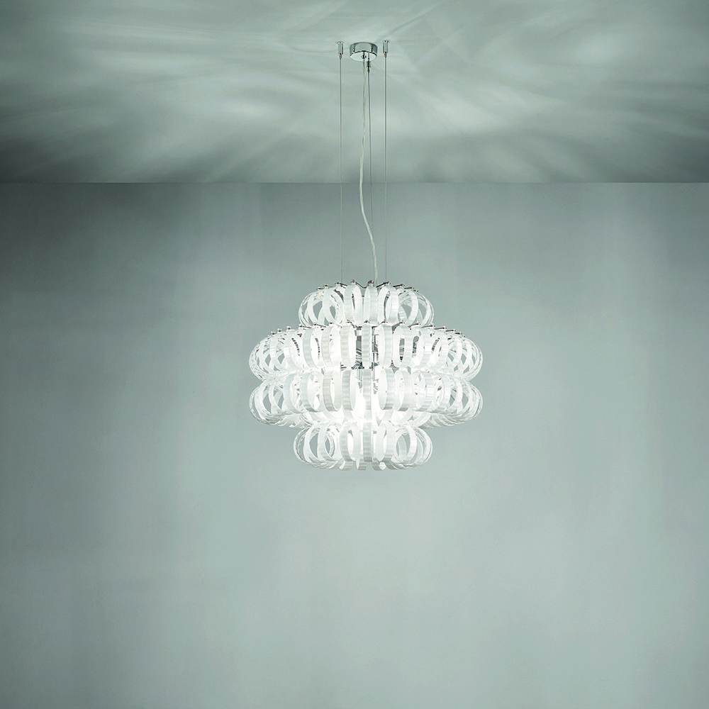 Ecos Suspension light designed by Renato Toso, Noti Massari & Associates for Vistosi