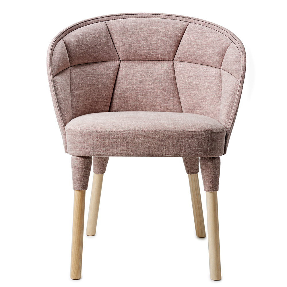 Emily dining chair Farg and Blanche Garsnas pink decorative stitching