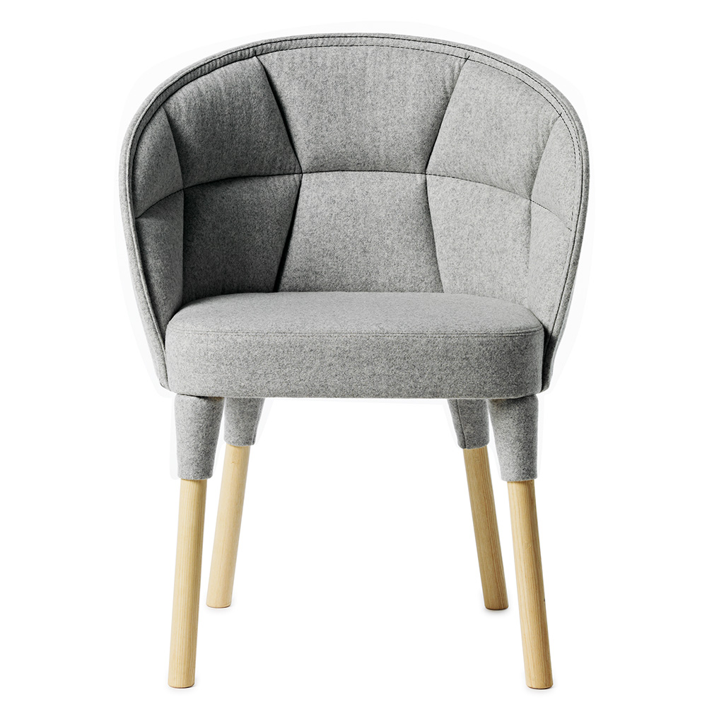 Emily dining chair Farg and Blanche Garsnas grey decorative stitching