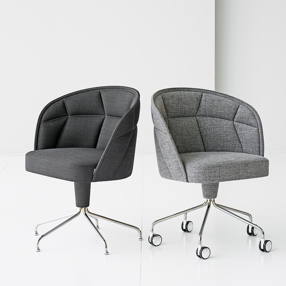emily ii chair farg blanche garsnas upholstered swivel modern office chair