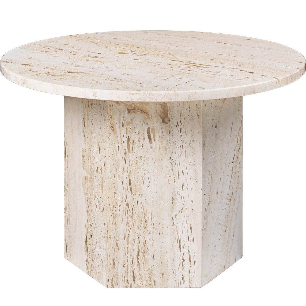 epic coffee table gamfratesi gubi modern contemporary european designer solid stone travertine marble coffee table