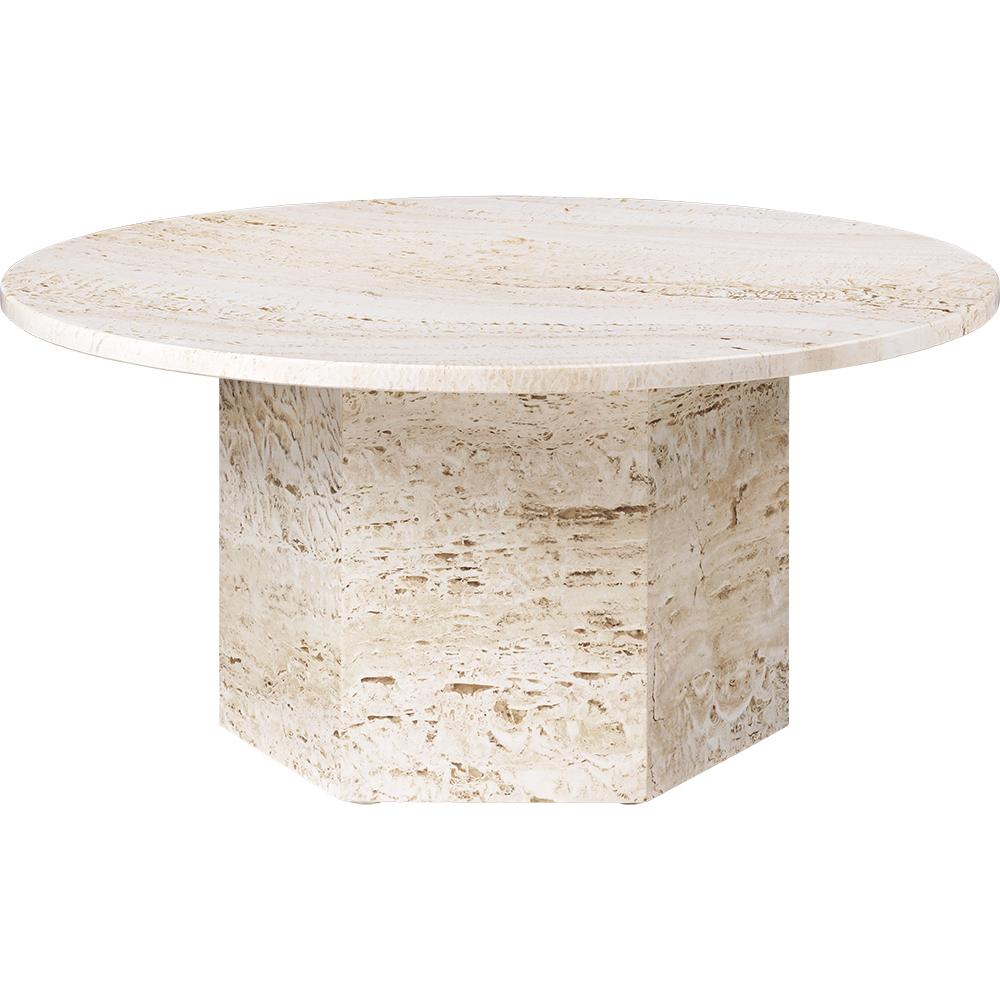 epic coffee table gamfratesi gubi modern contemporary european designer solid stone travertine marble coffee table