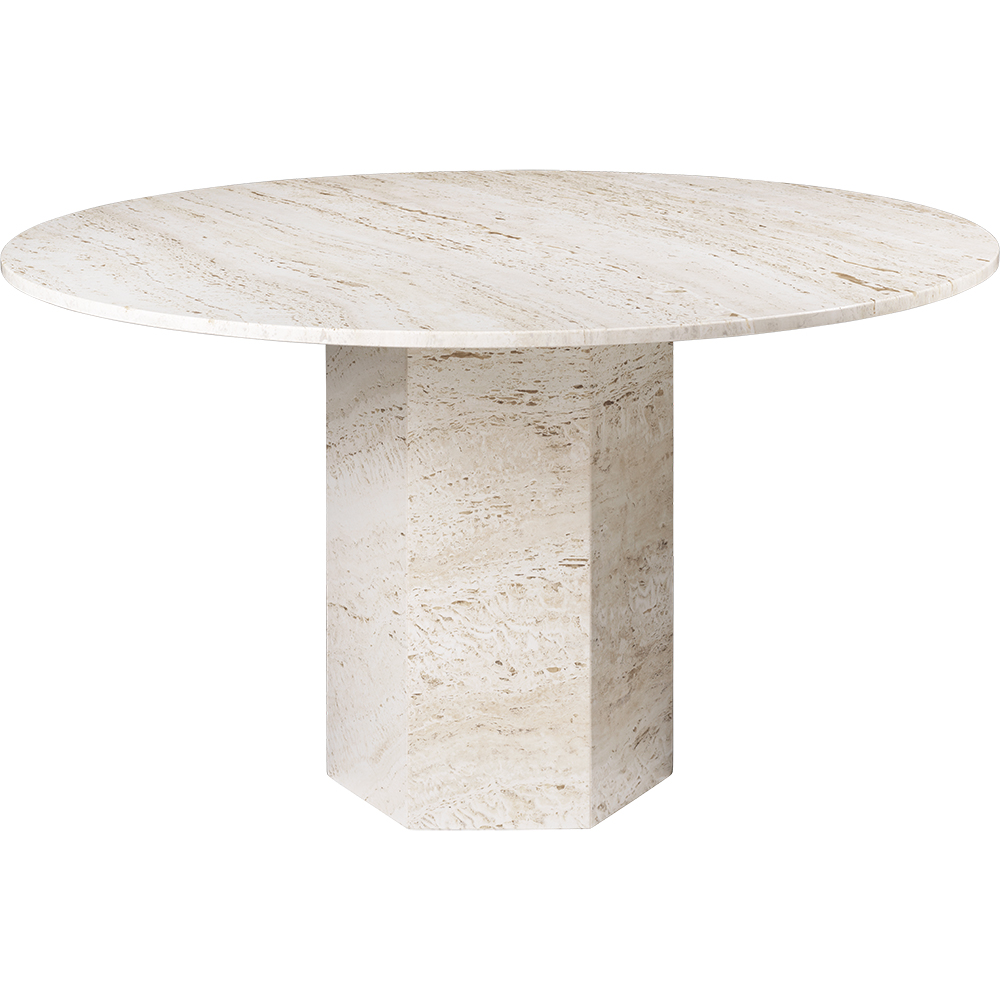 epic dining table gamfratesi gubi modern contemporary european designer solid stone travertine marble dining table