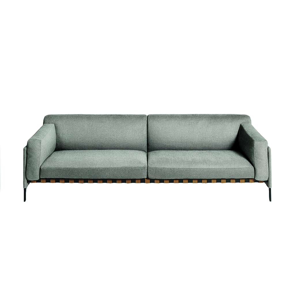 etiquette depadova modern contemporary midcentury style designer wood back european upholstered sofa couch