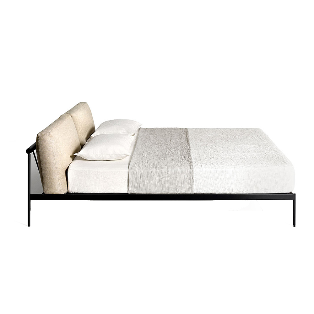 etiquette bed depadova modern contemporary midcentury style designer wood back european upholstered sofa couch