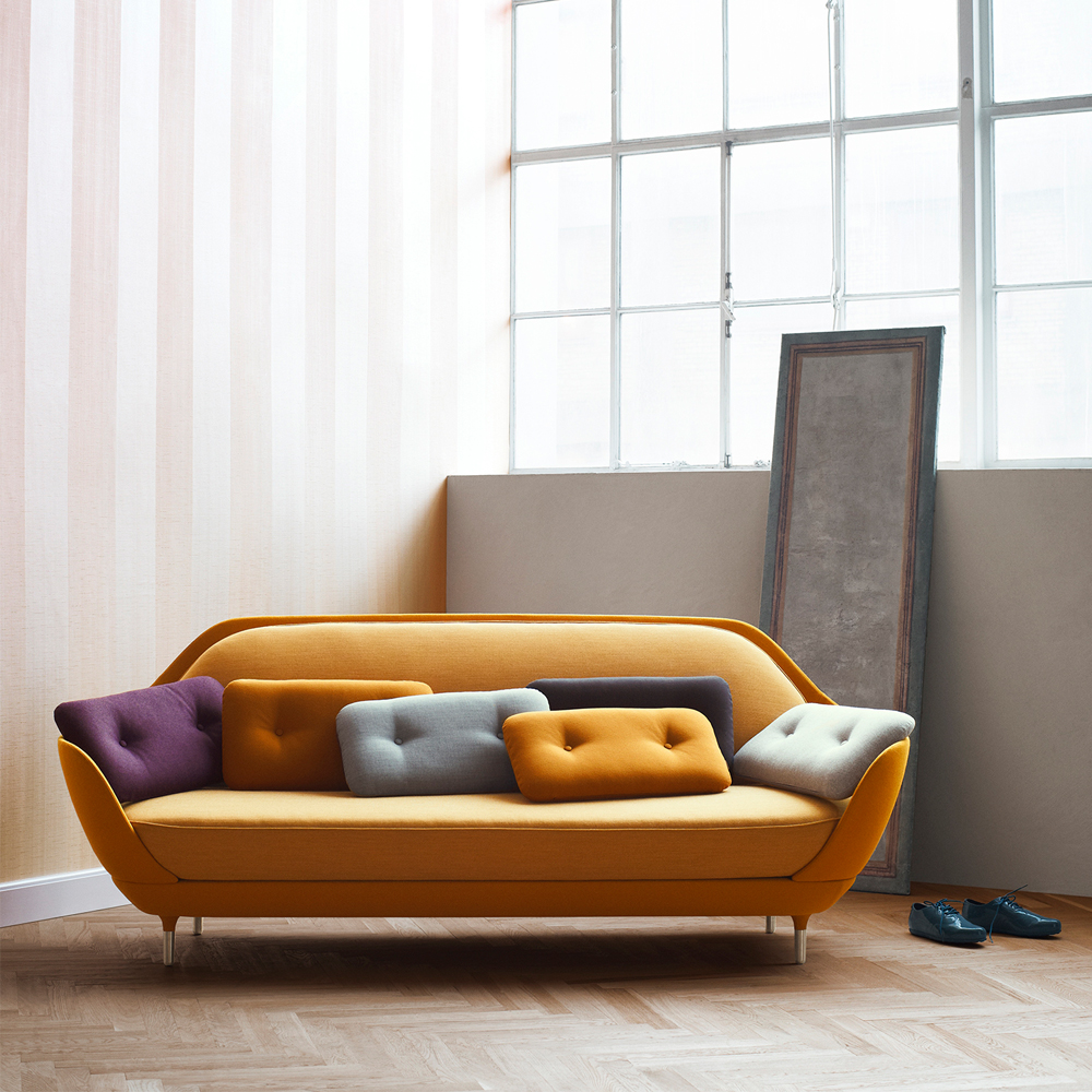Favn sofa orange Jaime Hayon Fritz Hansen grey