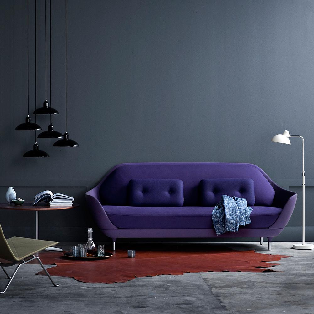 Favn sofa purple Jaime Hayon Fritz Hansen grey