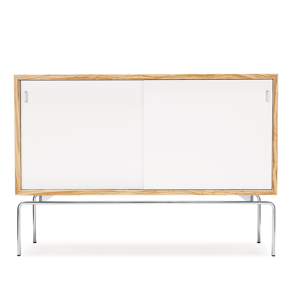 FK 100 Sideboard Fabricius Kastholm Lange Production danish cabinet olive wood white