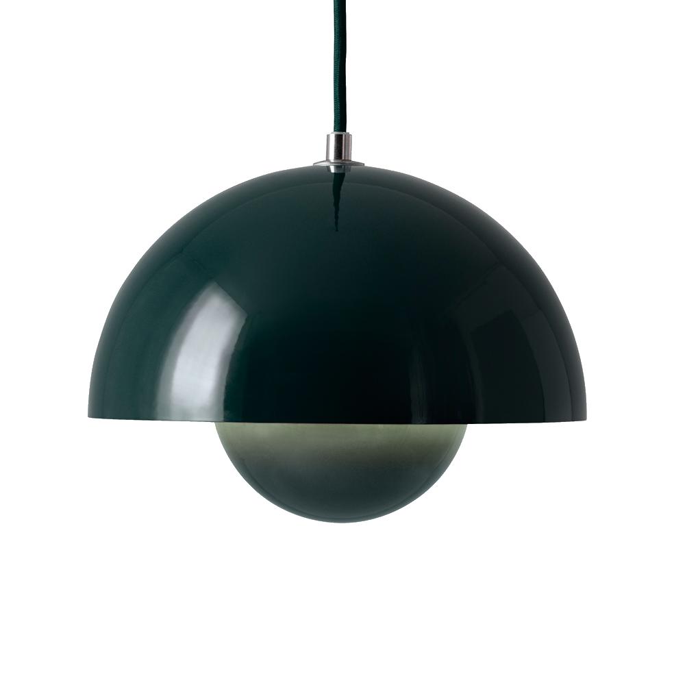 verner planton flowpot pendant dark green suite ny and tradition