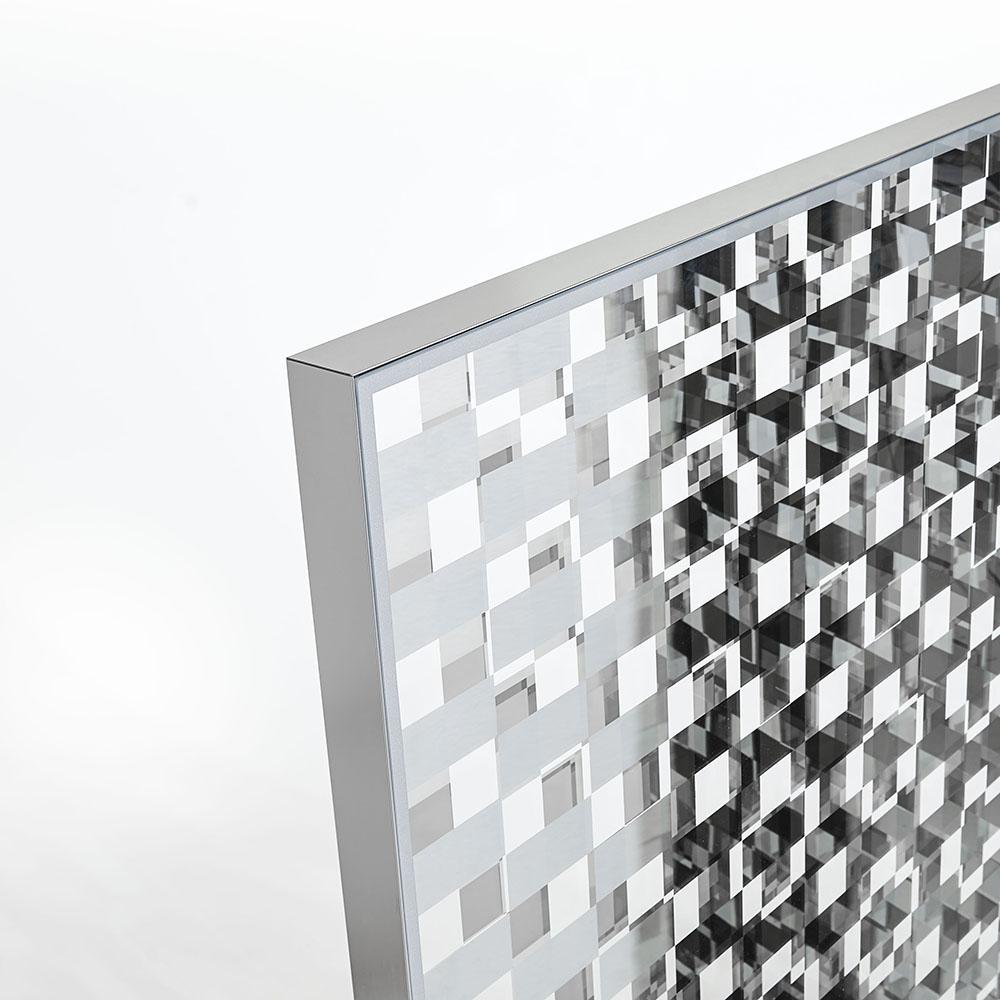 fragment glasitalia nendo contemporary modern designer italian solid murano glass reflective room divider panels