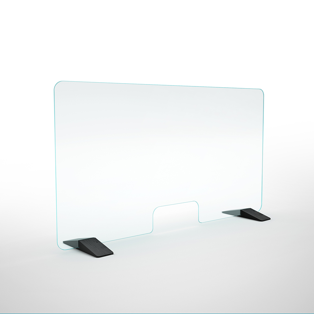 friend glas italia modern contemporary designer glass desk divier partition