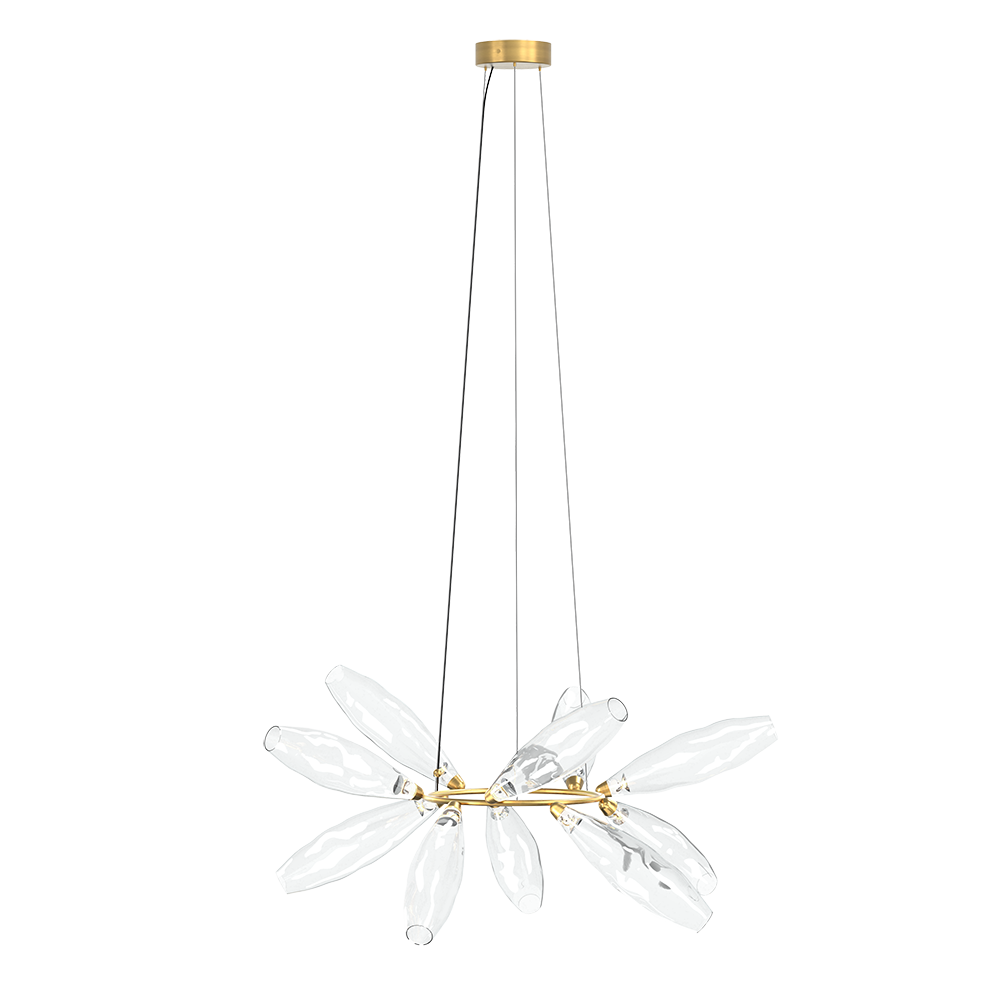 gem giopato and Coombes glass chandelier suspension light