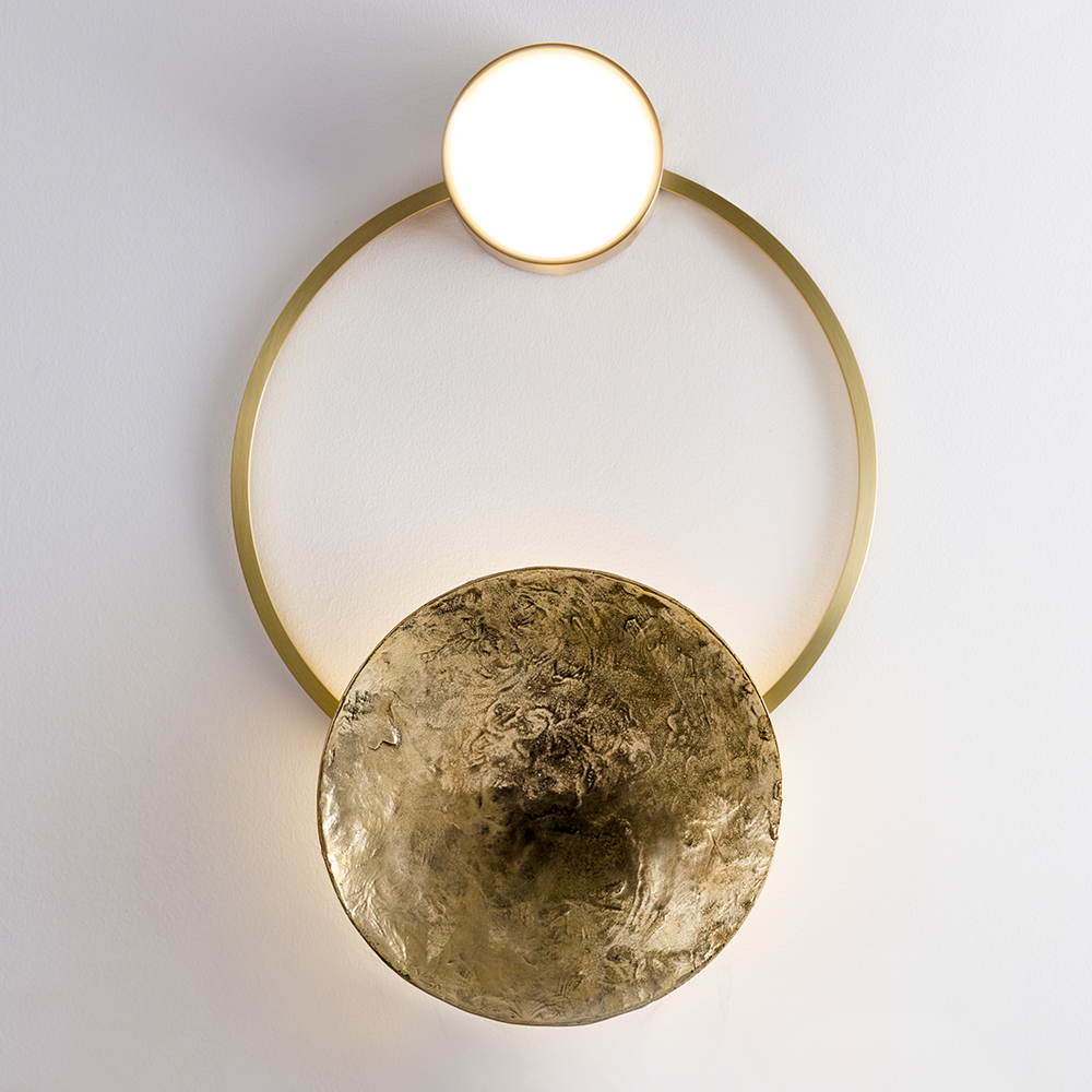 gioielli giopato coombes artistic statement piece gold wall light