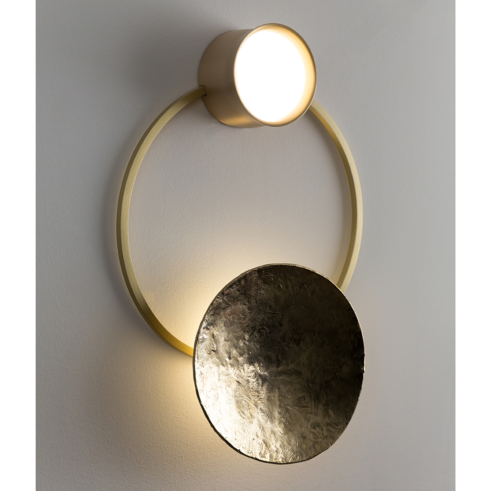 gioielli giopato coombes geometric gold designer wall light