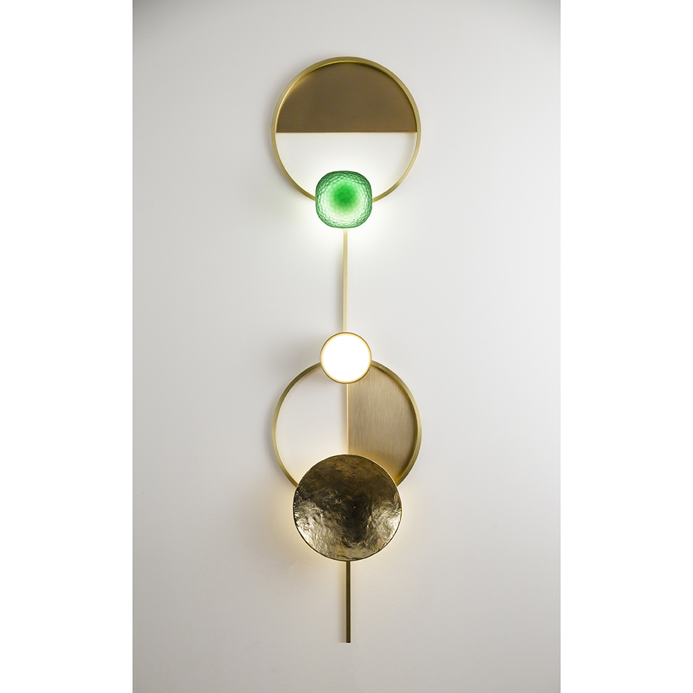 gioielli giopato coombes modern gold geometric wall light