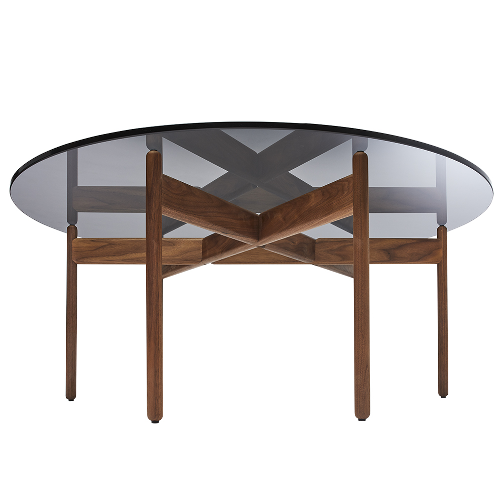 gj coffee table grete jalk lange production midcentury modern designer contemporary glass wood round table