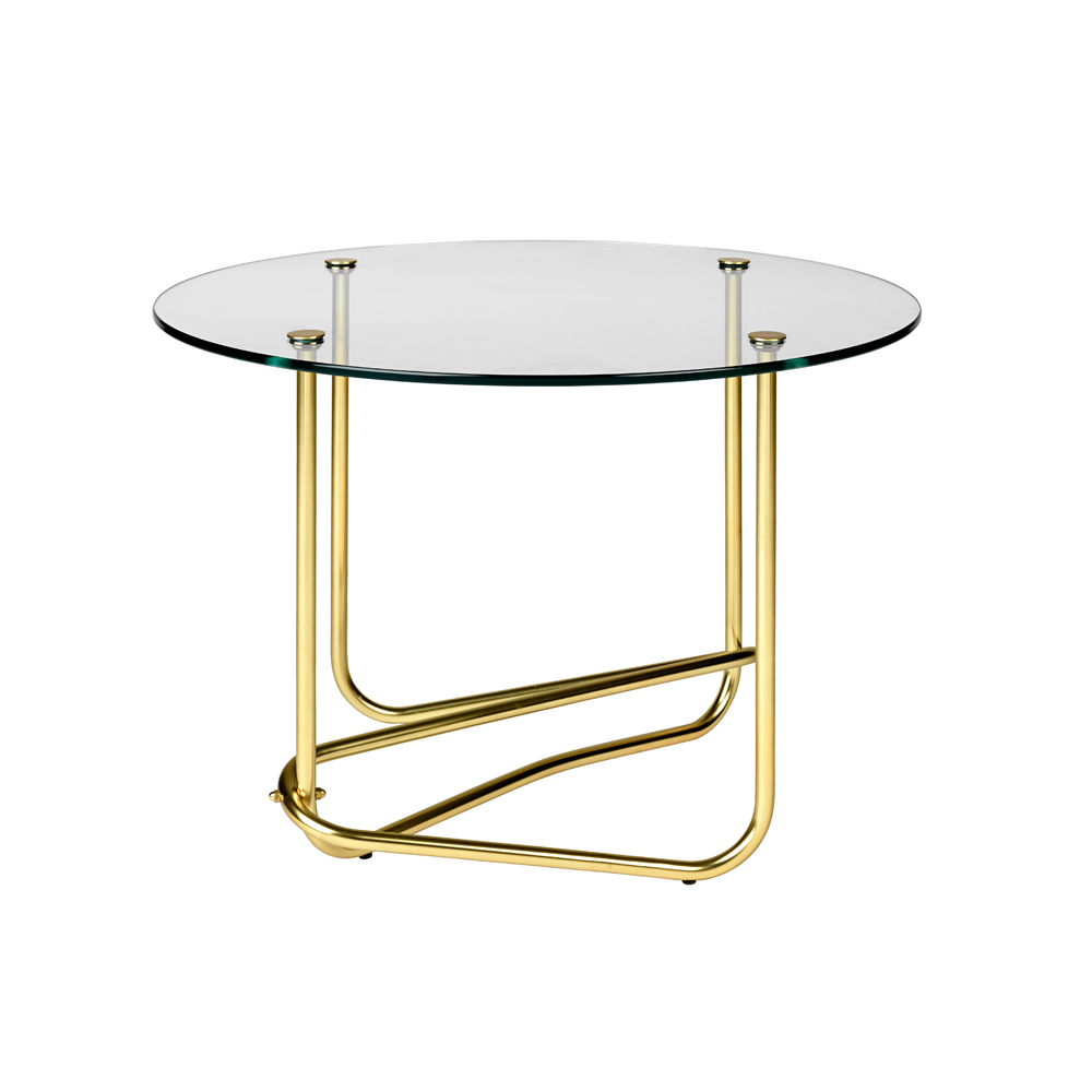 Mathieu Mategot glass coffee table gubi base base curved occasional table