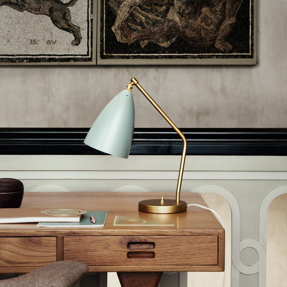 silo grasshopper table lamp mint blue grey gray gold greta grossman