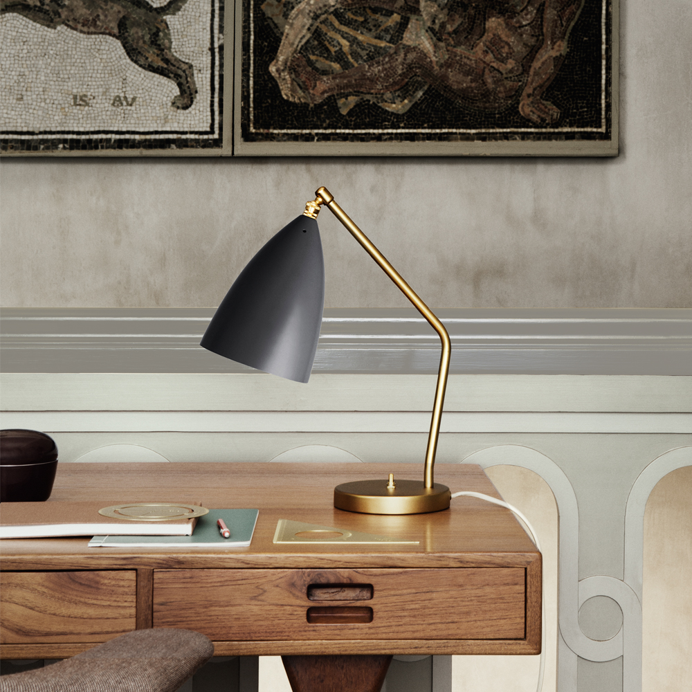 grasshopper table lamp jet black gold greta grossman