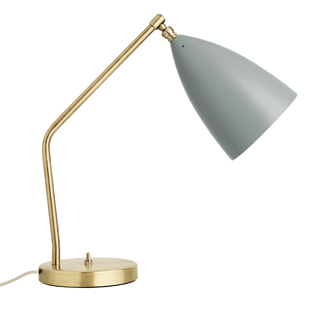 silo grasshopper table lamp blue grey gray gold greta grossman
