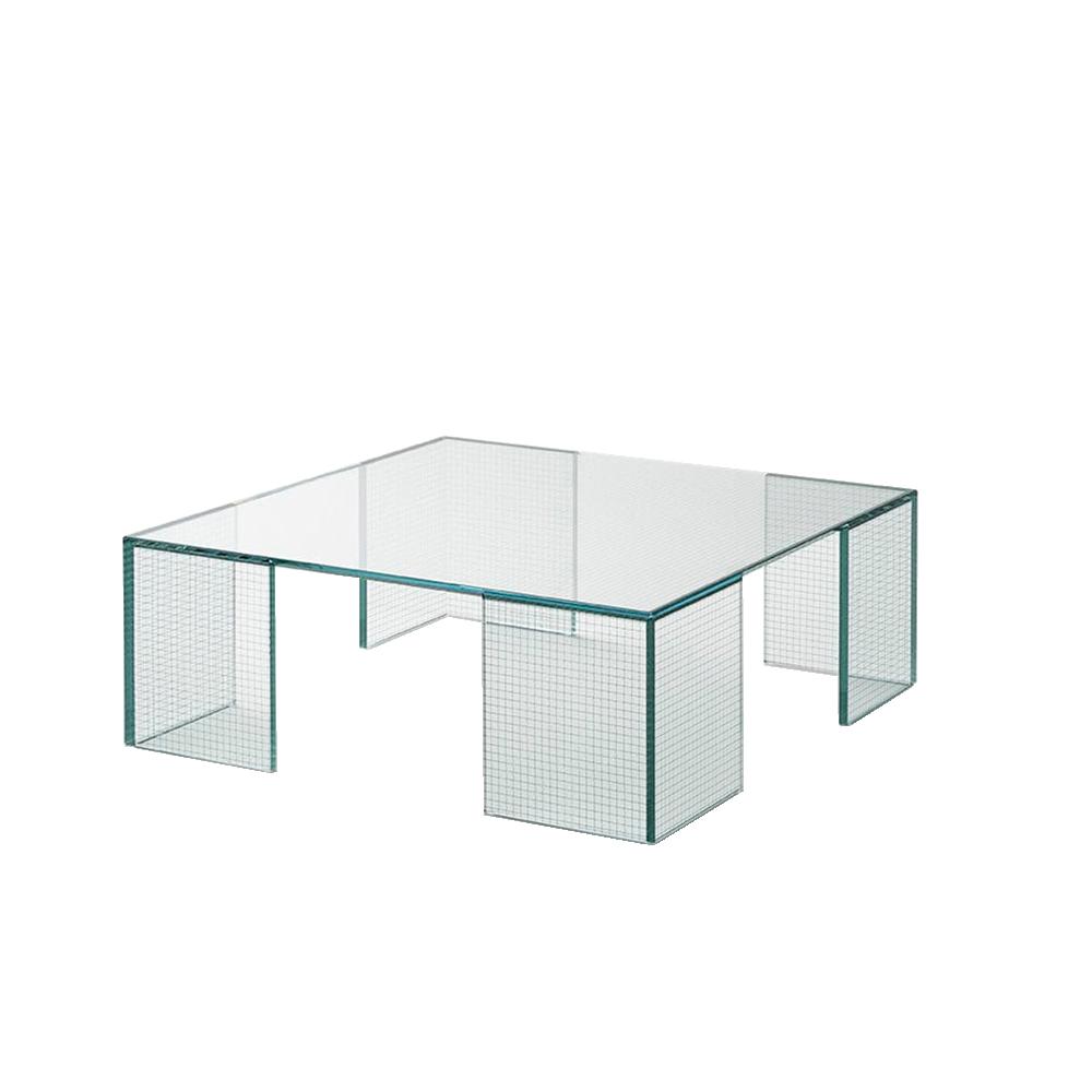 grid piero lissoni glasitalia modern designer contemporary italian solid glass table
