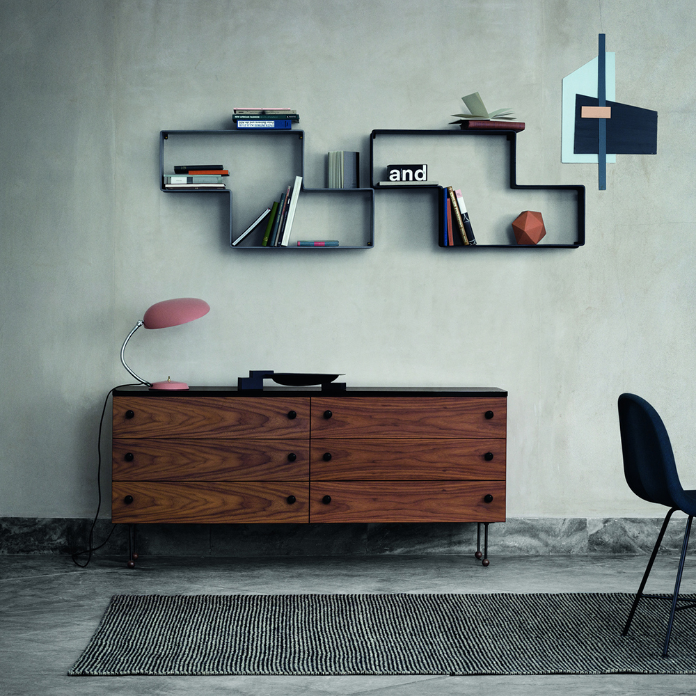 Dedal shelf designed by Mathieu Mategot, manufactured by GUBI Denmark
