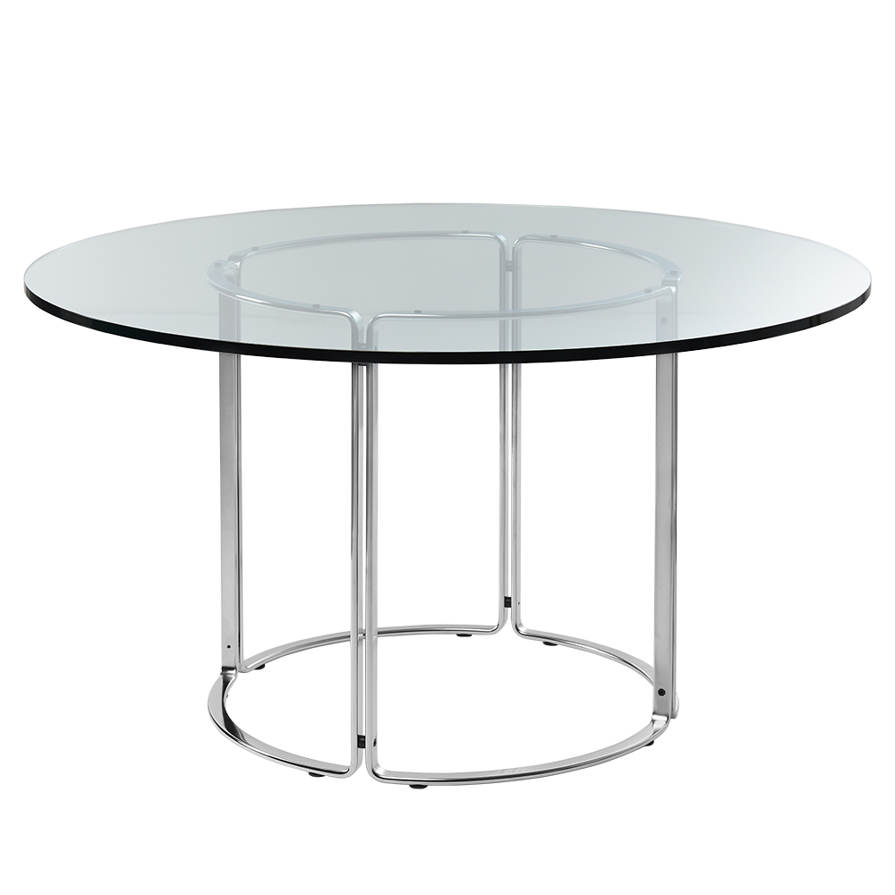 hb 120 contemporary modern danish designer glass marble round circular dining table