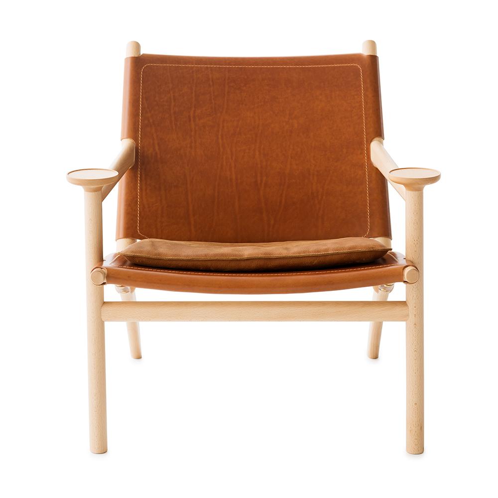 Hedwig David Ericsson Garsnas modern wood leather armchair swedish designer