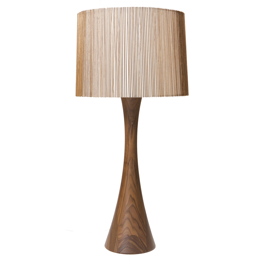 hourglass table lamp mel smilow smilow furniture midcentury wood table light american designer lamp