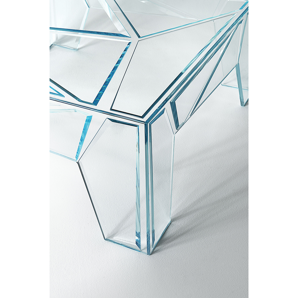 Hyper Table Mario Bellini Glasitalia Modern Designer Glass Coffee Table