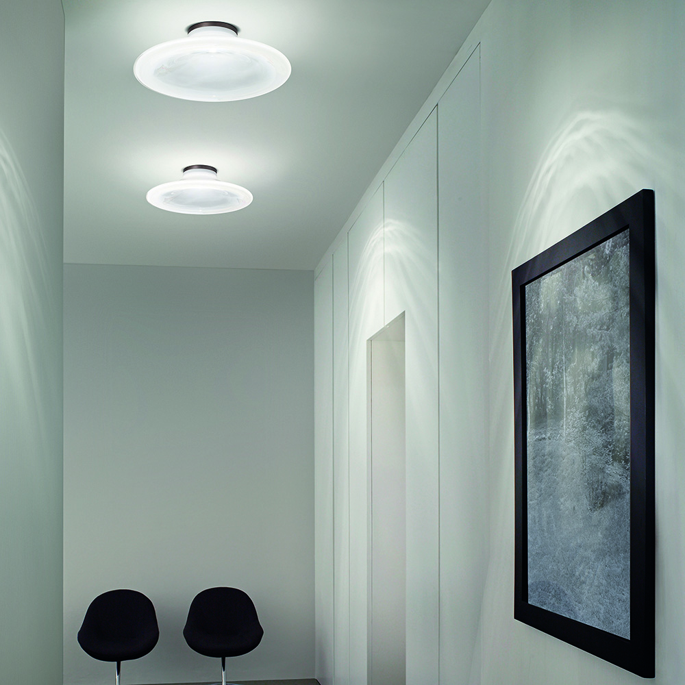 incanto ceiling light pio tito toso vistosi contemporary modern white glass ceiling lamp designer italian lighting