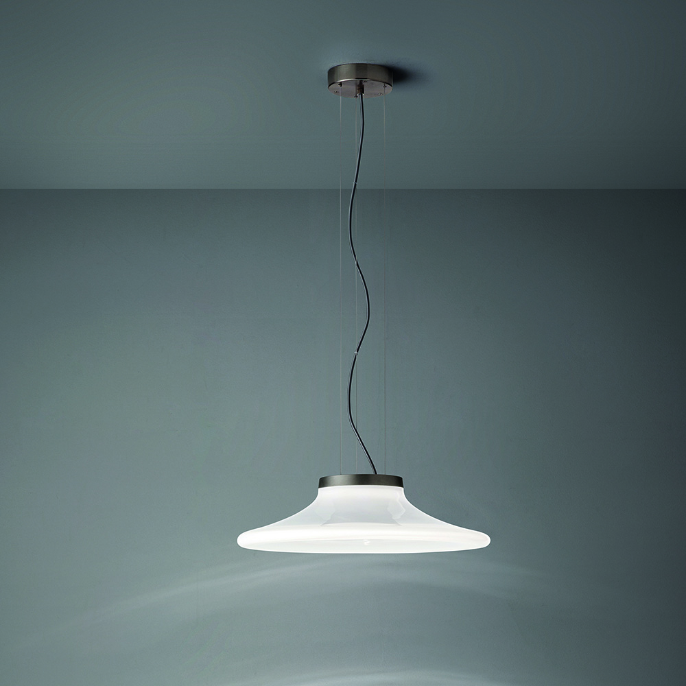 incanto suspension light pio tito toso vistosi contemporary modern white glass suspension designer italian lighting