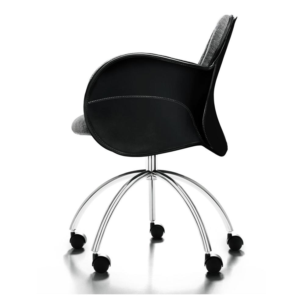 Incise chair Vico Magistretti DePadova saddle leather swivel